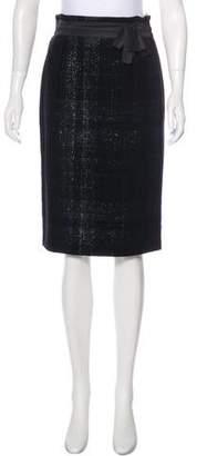 Alberta Ferretti Virgin Wool Plaid Skirt w/ Tags