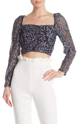 Keepsake the Label Engage Lace Long Sleeve Top