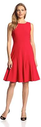 Calvin Klein Women's Sleeveless Solid Fit-and-Flare Dress
