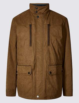 "Marks and Spencer Cotton Blend Car Coat with Stormwearâ""¢"