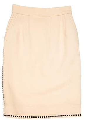 Chanel Vinyl-Trimmed Vintage Skirt