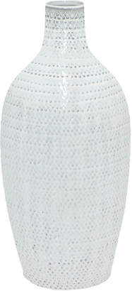 Three Hands Corp White Ceramic Vase