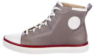 Hermes Leather High-Top Sneakers w/ Tags