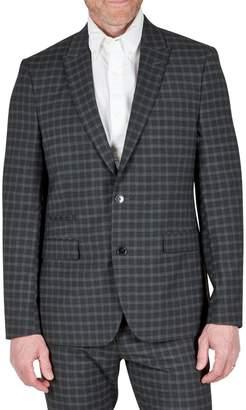 Kenneth Cole Reaction Slim-Fit Plaid Peak Lapel Suit