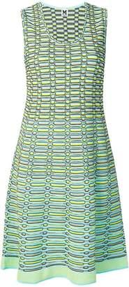 M Missoni striped knit a-line dress