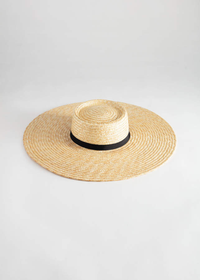 And other stories Round Top Straw Hat
