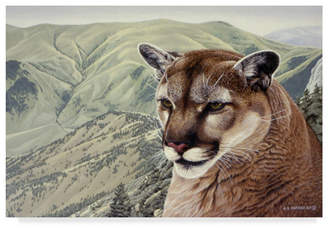 """High Country Ron Parker 'High Country Cougar' Canvas Art - 12"""" x 19"""""""