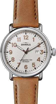 Shinola The Runwell - Statue of Liberty Leather Strap Watch, 41mm