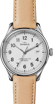 Shinola The Vinton Leather Strap Watch, 38mm