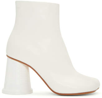MM6 MAISON MARGIELA White Cup Heel Boots