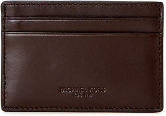 Michael Kors Brown Leather Odin Card Case
