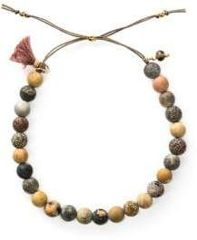 Dogeared No Worries Matte Jasper Beaded Bracelet
