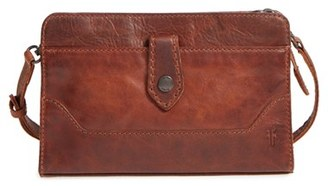 Frye Melissa Leather Crossbody Clutch - Brown $298 thestylecure.com