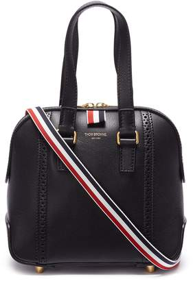 Thom Browne 'Mrs. Thom' brogue stripe mini leather bag