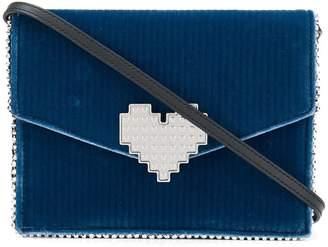 Les Petits Joueurs heart embellished crossbody bag