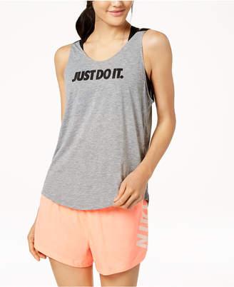 Nike Breathe Dri-fit Open-Back Tank Top