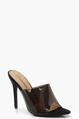 81050f195d4 boohoo Wide Fit Perpex Pointed Mule Heels
