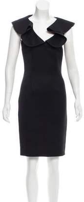 Fendi Ruffled-Trimmed Knee-Length Dress