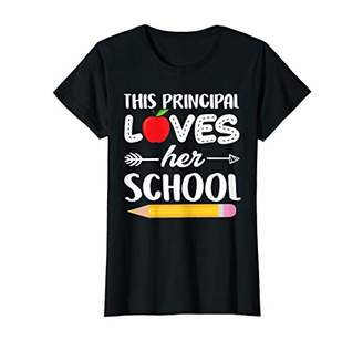Womens This Principal Loves Her School T-Shirt Back To School Gifts