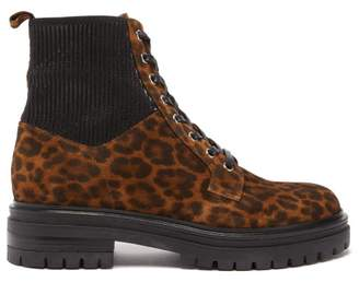 7480f648ece2 Gianvito Rossi Martis Leopard Print Suede Ankle Boots - Womens - Leopard
