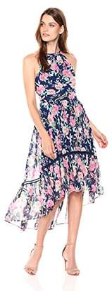 Eliza J Women's Floral Halter High Low Dress