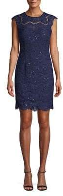 Kensie Sequined Lace Sheath Dress