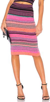 BCBGMAXAZRIA Striped Knit Pencil Skirt