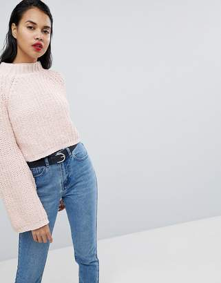 Missguided Flare Sleeve Knitted Sweater