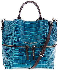 Dooney & Bourke City Lafayette Leather Large Dawson Satchel $429 thestylecure.com