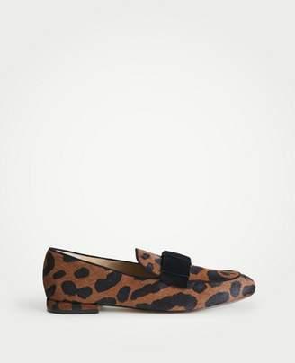 Ann Taylor Adeline Hair Calf Bow Loafers