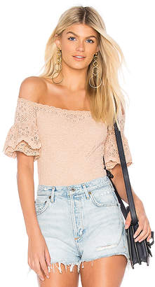 Nightcap Clothing Pom Sleeve Bodysuit