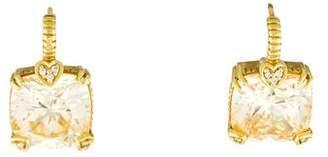 Judith Ripka Canary Crystal & Diamond Lola Earrings