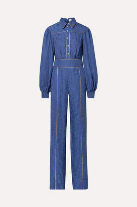 Peter Pilotto Jacquard Jumpsuit - Blue