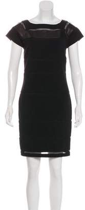 Diane von Furstenberg Leather-Accented Novi Dress