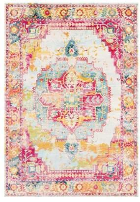 Surya Aura silk Updated Traditional Rose, Bright Pink Area Rug