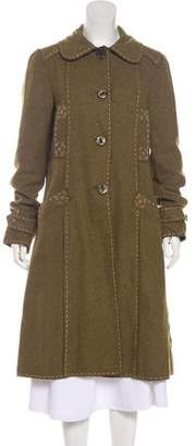 Philosophy di Alberta Ferretti Wool-Blend Long Coat