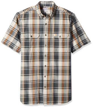 29d0cce848bed1 Carhartt Men's Big Big & Tall Fort Plaid Short Sleeve Shirt, 2X-Large/