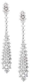 Adriana Orsini Leia Crystal & Rhodium-Plated Linear Drop Earrings