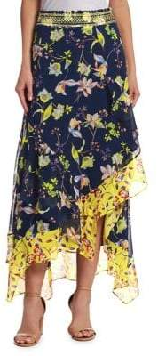Tanya Taylor Esmee Garden Print Skirt