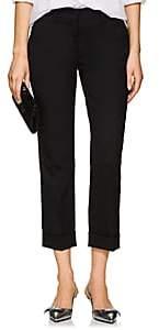 Prada Women's Wool Straight Cuffed Trousers - Black