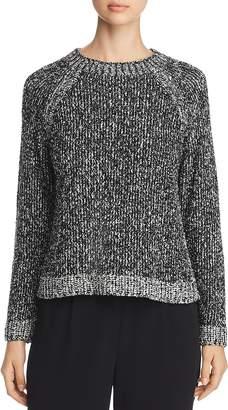 Eileen Fisher Melange Knit Organic Cotton Sweater