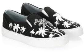 Chiara Ferragni Slip-On Palm Tree Canvas Sneakers