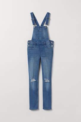 H&M Slim Fit Bib Overalls - Blue