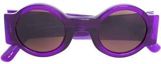 Linda Farrow round framed sunglasses