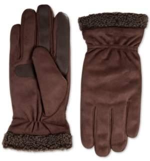 Isotoner Signature Isotoner Men's Faux-Suede Gloves