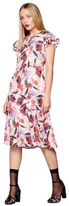 Preen Studio by Pink Floral Midi Tea Dress