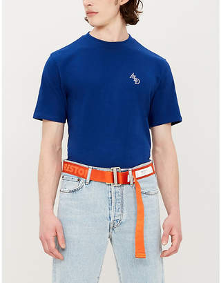 Leon AIME DORE Logo-embroidered cotton-jersey T-shirt