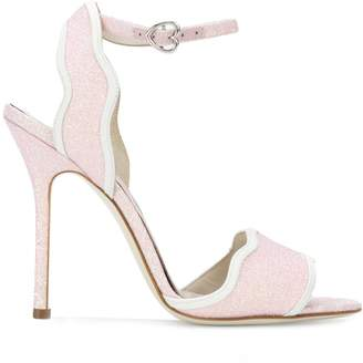 Bella Vita Francesca Bellavita Stardust glitter stiletto sandals