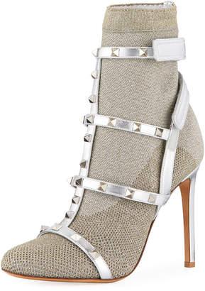 Valentino Rockstud Bodytech Sock Booties