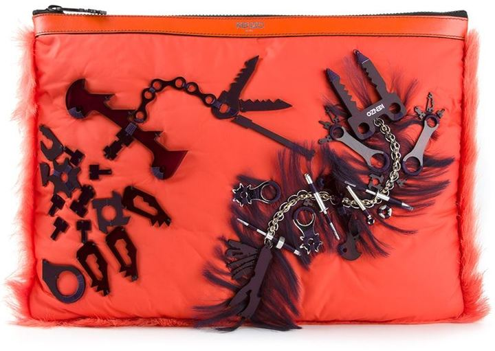 Kenzo 'Monster Tools' clutch